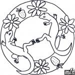 Mandala, ještěrky