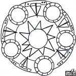 Mandala, hvězdice