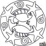 Mandala, hvězdice a velryby