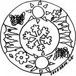 Mandala, vločka 2