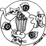 Mandala, popcorn 1