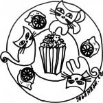 Mandala, popcorn 2