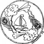 Mandala, loď+pírko