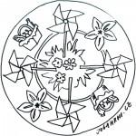 Mandala, větrníky